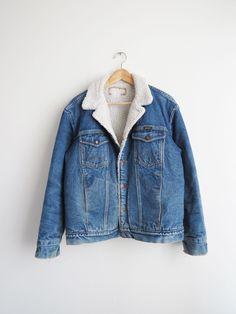 Wrangler Shearling Jacket // Vintage 1980's Jean Sherpa Jacket