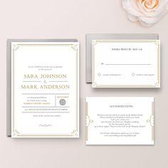 Sara Suite  Digital  Printable  DIY Wedding by WisemonkeyPaperie