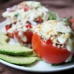 Breadless Tuna Melt in a Tomato. Breadless Tuna Melt in a Tomato (low-carb high protein no mayo) Tuna Recipes, Seafood Recipes, Low Carb Recipes, Cooking Recipes, Healthy Recipes, Pastry Recipes, Copycat Recipes, Great Recipes, Dinner Recipes