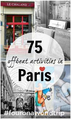 Paris - 75 offbeat things to do and tips from a local that let you discover a Paris beyond Eiffel Tower and the Louvre. Top travel guide to explore hidden Paris. Discover Paris hidden gems with our top guide. Lots of insider tips.