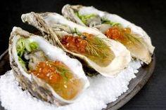Recette de Huîtres aux algues, oeufs de saumon facile et rapide