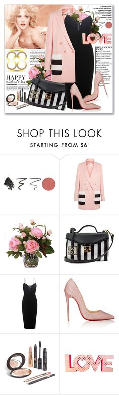 """Valentine's day with eightyeight-88 -CONTEST WITH PRIZE!"" by astromeria ❤ liked on Polyvore featuring Charlotte Tilbury, MaxMara, Lux-Art Silks, Handle, Victoria Beckham, Christian Louboutin, bag, valentinesday and eightyeight88"