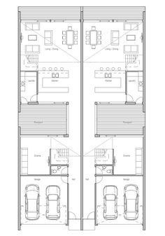 Duplex house plans duplex house and house plans on pinterest for Multi family house plans with courtyard