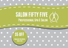 Salon 55 Gray Green Postcard $57