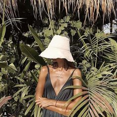 Bucket hat goals - grab yours instore or online in ivory or black. Organic Plants, Street Look, Outdoor Plants, Plant Care, Panama Hat, Cotton Canvas, Bucket Hat, Spring Summer, Seasons