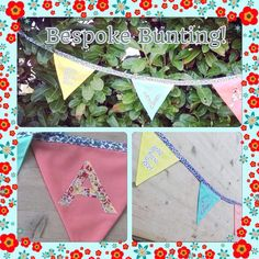 Beautiful bespoke bunting for every occasion! Re-use this every year for parties…