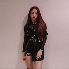 Your source of news on YG's current biggest girl group, BLACKPINK! Blackpink Outfits, Stage Outfits, Fashion Outfits, Square Two, Mode Kpop, Blackpink Photos, Pictures, Blackpink Fashion, Blackpink Jisoo