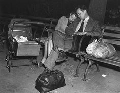 1946 - Homeless Couple, the Thomsens, Housing Shortage in NYC by Arthur Whittaker for NYDaily News