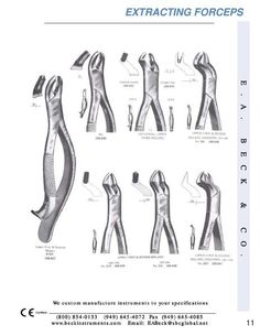 Image detail for -Page 11 of Beck Instruments of the catalog Oral Surgery Catalog