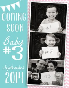 Ways to Announce Pregnancy 3rd Pregnancy Announcement, Third Baby Announcements, Baby Surprise Announcement, Third Pregnancy, Pregnancy Announcement Photos, Announcing Baby Number 3, Surprise Baby, Baby Time, Future Baby