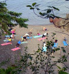 Morning Yoga on the beach at Lusten Resort in Minnesota is the best way to start the morning. Vacations To Go, Vacation Spots, Snowboarding, Skiing, Lutsen Resort, Morning Yoga, Lake Superior, Camping With Kids, Outdoor Activities
