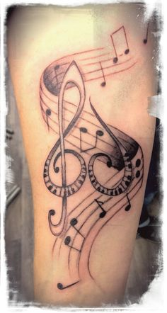 Tattoo Music on underarm,1.session by Donny Taylor