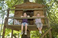 Encourage your kids to build a tree house. Supervise as little as possible. Maybe add some morning glories or other vine plants that can grow on the house. Try not to let your own fear or paranoia prevent them from independence and creativity.