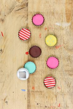 DIY Anleitung: Magnet aus Kronkorken // home diy: how to upcycle a bottle cap into a magnet