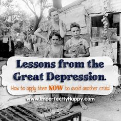 Lessons from the Great Depression. How to apply them NOW to avoid another crisis! | by ImperfectlyHappy.com