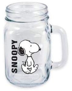 ICUPTM Peanuts® Walking Snoopy Handled Mason Jar