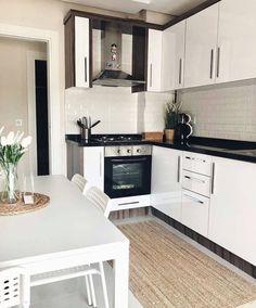 Home Decor Kitchen, Interior Design Kitchen, My Room, Kitchen Cabinets, House Design, Decoration, Ideas, Arquitetura, Kitchen Dining