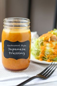 Make this iconic and delicious Japanese Restaurant Style Ginger Dressing Recipe in less than 10 minutes! Inspired by Japanese-American steakhouses, the sweet and tangy flavors make the perfect pairing to ice cold iceberg lettuce! Ginger Salad Dressings, Salad Dressing Recipes, Miso Salad Dressing, Sauce Recipes, Cooking Recipes, Cooking Games, Cooking Bacon, Cooking Tips, Japanese Diet