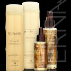 Alterna Bamboo..love these products! shampoo combines organic bamboo extract and smoothing organic kendi oil to add moisture for frizz.free hair, and gentle on colored hair! :)