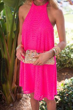 14f94d8804e4 Lilly Pulitzer Quinn Halter Swing Dress Fushia Dress, Pink Dress Shoes,  Dress Lilly,