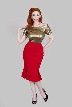 Catwalk Red Skirt | Bettie Page Clothing