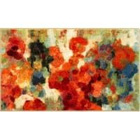 Colorful Garden, Colorful Rugs, Peach Rug, Thrift Store Furniture, Watercolor Painting Techniques, Floral Area Rugs, Bright Flowers, Modern Area Rugs, Online Home Decor Stores