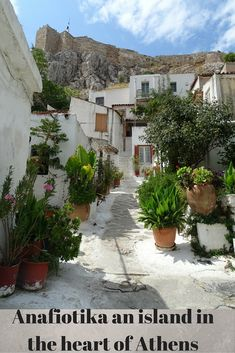 Discover the area of Anafiotika in Athens Greece, an island within the city!