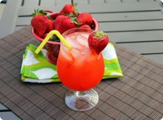 7. Favorite Summer Drink:  Frozen Strawberry lemonade  (just discovered this summer - yummo!)