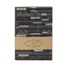 Notizbuch Factum in DIN A5 Soft-Cover Einband: Naturpapier mit Silberprägung und Relief / 32 chamois Seiten, liniert / Größe: 15 x 21 cm
