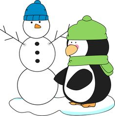 """MyCuteGraphics: """"Penguin and Snowman"""" FREE Clipart"""