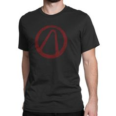Borderlands Vault Logo Mens crew neck t-shirt for all willing Vault Hunters from Pandora, don't forget those precious items from the Loot Chest! Printed on 100% cotton; pre-shrunk, combed cotton t-shi