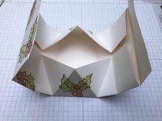 Origami-Haus-Box mit Tutorial Origami Box, Stampin Up, Coasters, Container, Scrap, Paper, Gift, Tutorials, Book Folding