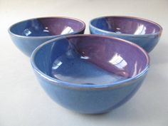 Bowl for Soup Cereal Salad in Purple and by CeramicsbyMarcelle
