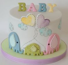 Elephant Baby Shower - by ShereensCakes @ CakesDecor.com - cake decorating website