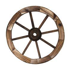 Charred Eighteen Inch Wagon Wheel