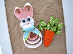 cute bunny and carrot bows (includes tutorial for carrot, not bunny)