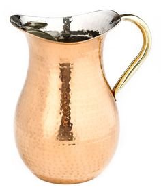 Look at this Copper Hammered 1.5-Qt. Water Pitcher on #zulily today!