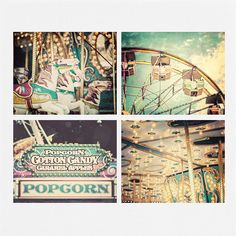 Carnival Print Set, Nursery Decor, Children's Room Decor, Baby Gift Baby Shower Carousel Circus Pastel Aqua Teal Yellow Pink. on Etsy, $50.72 CAD
