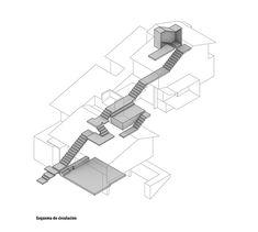 Casa en Ladera,Esquema de Circulación Conceptual Model Architecture, Architecture Concept Diagram, Architecture Presentation Board, Bamboo Architecture, Architecture Graphics, Architecture Drawings, School Architecture, Architecture Design, Architect Sketchbook