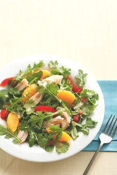 This no-cook Asian salad is perfect for lunch or dinner. Oranges add a juicy kick.  #salad