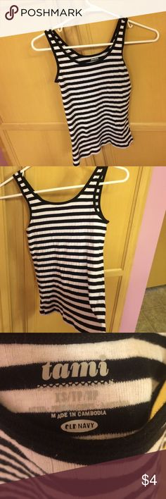 Black and white tank top Stretchy material Old Navy Tops Tank Tops