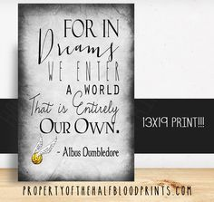 For in Dreams - Dumbledore Print 13x19
