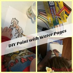 DIY Paint with Water Pages