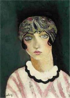 Moise Kisling - Kiki de Montparnasse, 1924 - Oil on canvas Man Ray, Monte Carlo, Kiki De Montparnasse, Art Fauvisme, Chaim Soutine, Figurative Kunst, Moise, Van Gogh Museum, Harlem Renaissance