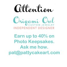 I'm a craft enthusiast with graphic design and product design background who offers these cool products at wholesale prices for Independent Origami Owl designers or Living Locket representatives.  See my Etsy store PattycakeArtworks