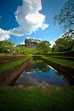 Sigiriya Sri Lanka – I didn't take this snap, but love this shot depicting the ancient pools full of water :)