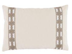 Neutral Velvet Lumbar Throw Pillow, decorative throw pillow, décor pillow, sofa pillow, lacefield pillow, velvet pillow, side embroidered pillow