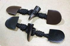 Alamares de cuero para coser y los cordones de rayón