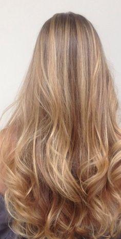 honey blonde highlights