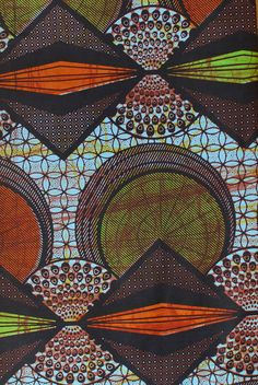 Autumn Geometric - fabric from African Fabric House